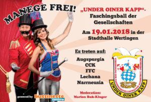 UOK - MANEGE FREI - Faschingsball der Gesellschaften @ Stadthalle Wertingen | Wertingen | Bayern | Deutschland