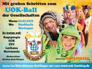 Mit großen Schritten zum UOK-Ball der Gesellschaften @ Stadthalle Wertingen | Troisdorf | Nordrhein-Westfalen | Deutschland